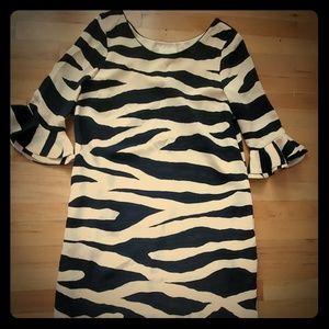 Kate Spade Andora Zebra Size 10 Dress